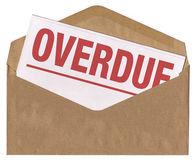Envelope - overdue notice letter Royalty Free Stock Photography