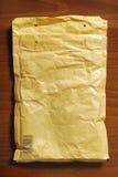 Envelope packet. Yellow envelope packet. mail post. postal symbol Royalty Free Stock Image