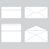Envelope paper for letter open and close Stock Photography