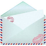 Envelope with paper sheet. Stock Images