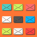 Envelope pattern. Including seamless sample in swatch panel Royalty Free Stock Photography