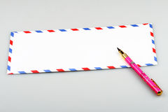 Envelope and pen Royalty Free Stock Images