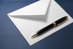 Envelope and pen Royalty Free Stock Photos