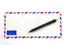 Envelope with pen Royalty Free Stock Image