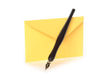 Envelope And Pen Stock Photo