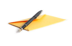 Envelope And Pen Stock Photography