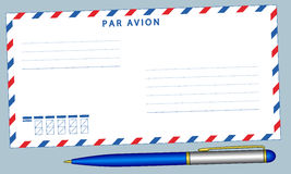 Envelope and pen Royalty Free Stock Photo