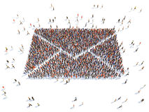 Envelope with people. Illustration of  a envelope with people , isolated Stock Photos