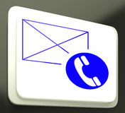 Envelope Phone Sign Showing Communication Media Stock Photos