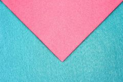 The envelope of pink and blue felt pieces stock images