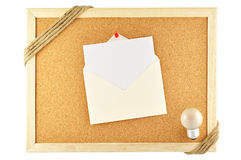 Envelope pinned Royalty Free Stock Photos