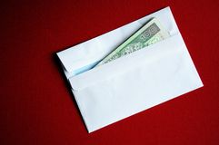 Envelope with polish zloty banknotes Stock Photos