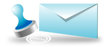 Envelope, posted e-mail Royalty Free Stock Images