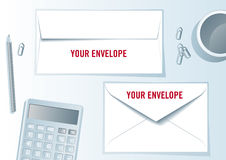 Envelope presentation format. Stock Photos