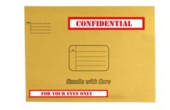 Envelope que é confidencial marcado imagem de stock royalty free