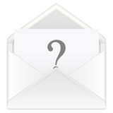 Envelope question Royalty Free Stock Photos