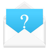 Envelope with question symbol Royalty Free Stock Images