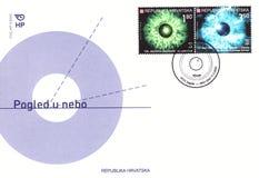 Envelope raro com selos Fotos de Stock