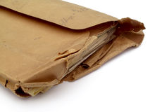 Envelope rasgado Fotografia de Stock Royalty Free