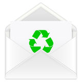 Envelope recycle Stock Image
