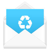 Envelope with recycle symbol Stock Photo