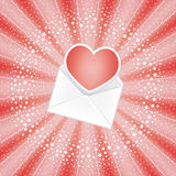 Envelope with red heart Royalty Free Stock Photos