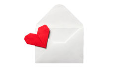 Envelope with a red heart Royalty Free Stock Photography