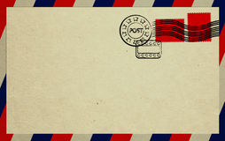 Envelope With Red Stamps Stock Photos