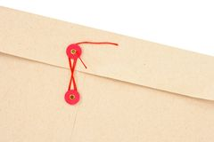 Envelope with red string Stock Images