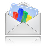 Envelope with report. Royalty Free Stock Images