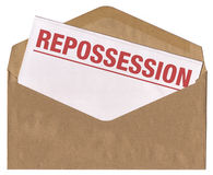 Envelope - Repossession notice letter Stock Images