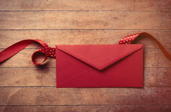 Envelope and ribbon Stock Photography