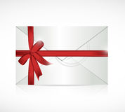 Envelope ribbon sign illustration design Royalty Free Stock Photo