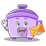 With envelope rice cooker character cartoon Stock Images