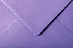 Envelope roxo Imagem de Stock Royalty Free