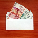 Envelope with a Russian Money Royalty Free Stock Photography