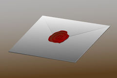 Envelope sealed with at sign Royalty Free Stock Photos