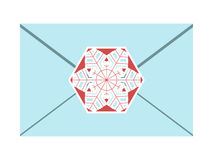Envelope sealed with snowflake Stock Photography