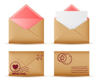 Envelope set Stock Images