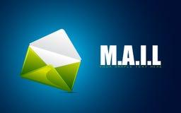 Envelope showing Mail stock illustration