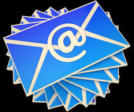 Envelope Shows E-mail Online To Communicate Information Stock Photos