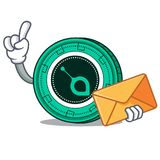 With envelope SiaCoin character cartoon style. Vector illustration Royalty Free Stock Photos