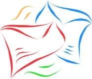 Envelope sketch. In colors simple illustration stock illustration