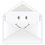 Envelope smile Stock Photos
