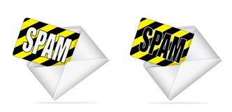 Envelope with spam inside Royalty Free Stock Photos