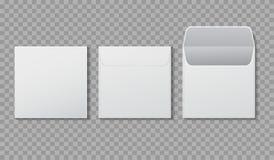 Free Envelope Square Shape Mockup. Template Paper Letter, Folder. Standard White Blank Letter Envelopes. Open Vertical And Horizontal Stock Image - 162497901