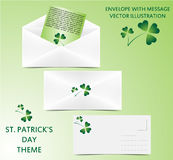 Envelope - St. Patrick theme Stock Photography