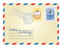 Envelope with stamps Royalty Free Stock Image