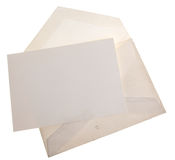 Envelope and stationary. Vintage old envelope with blank sheet of paper Stock Images