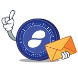 With envelope Status coin character cartoon. Vector illustration Royalty Free Stock Photos